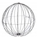 LED ball, 440LED, D60cm, transformer IP44, wire bl